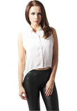 Ladies HiLo Sleeveless Blouse TB1178 White
