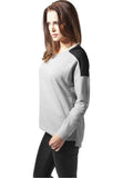 Ladies Oversize Chiffon Crew TB1182 Grey
