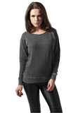 Ladies Burnout Open Edge Crew TB1208 Grey
