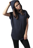 Ladies Melange Sleeveless Terry Hoody TB1209 Blue