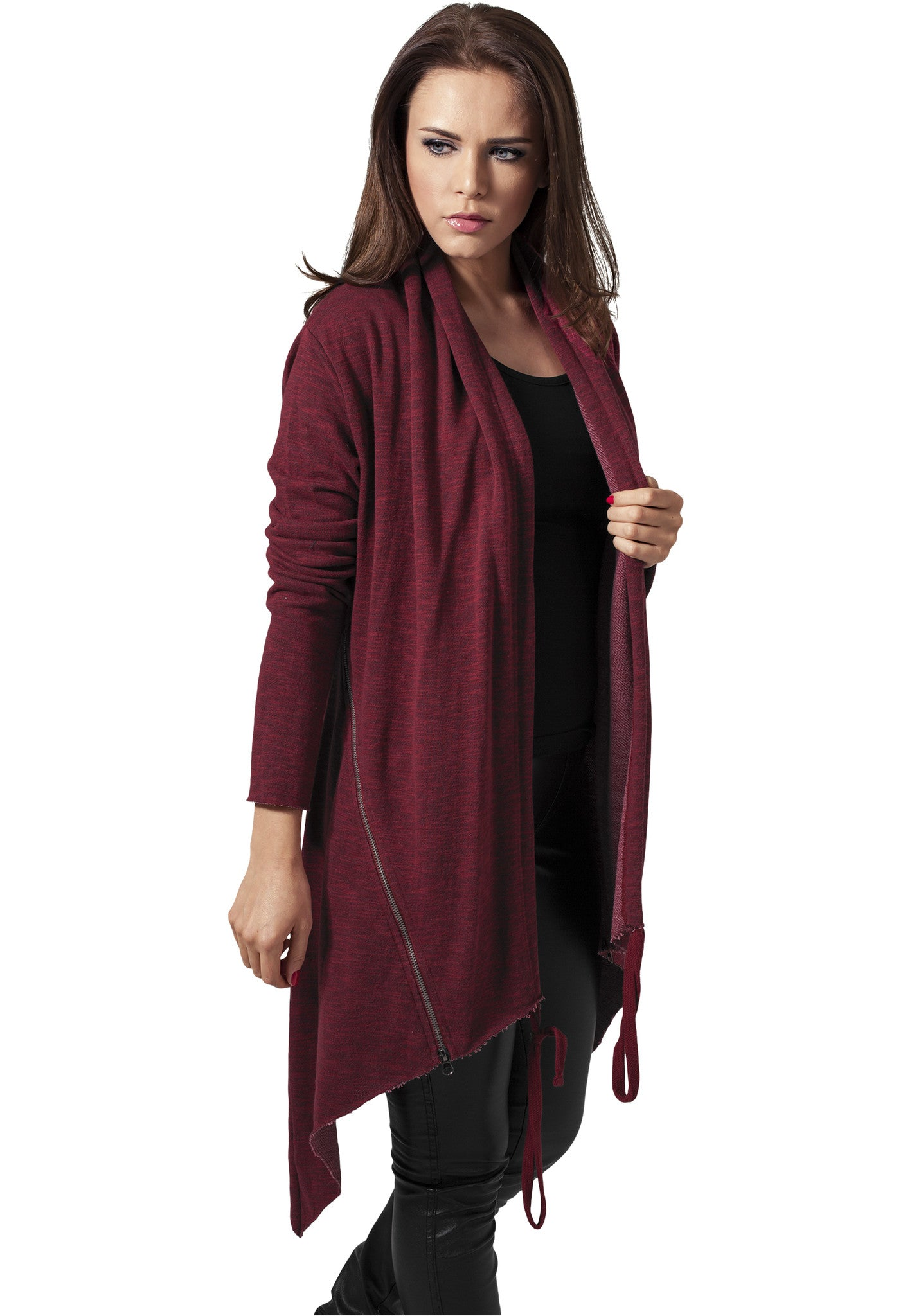 Ladies Terry Cardigan TB1213 Red