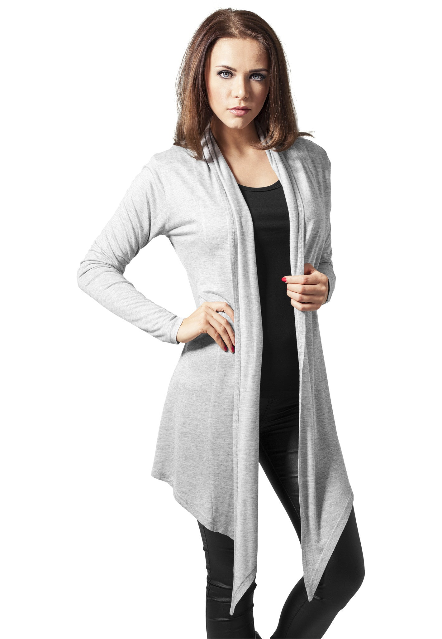 Ladies Viscose Cardigan TB1214 Grey