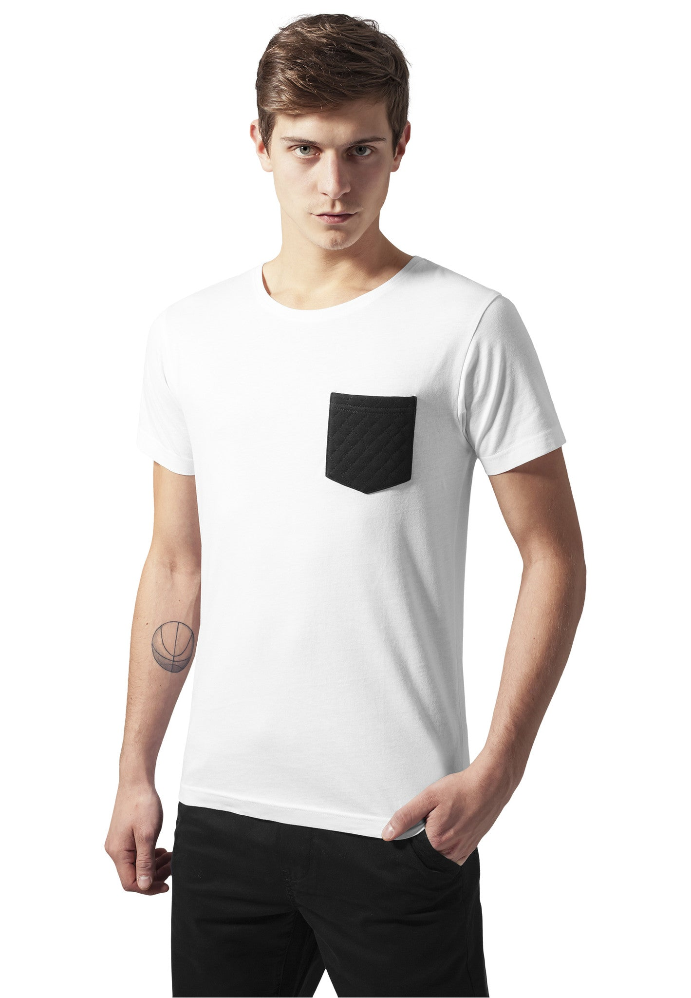 Quilted Pocket Tee TB1222 White