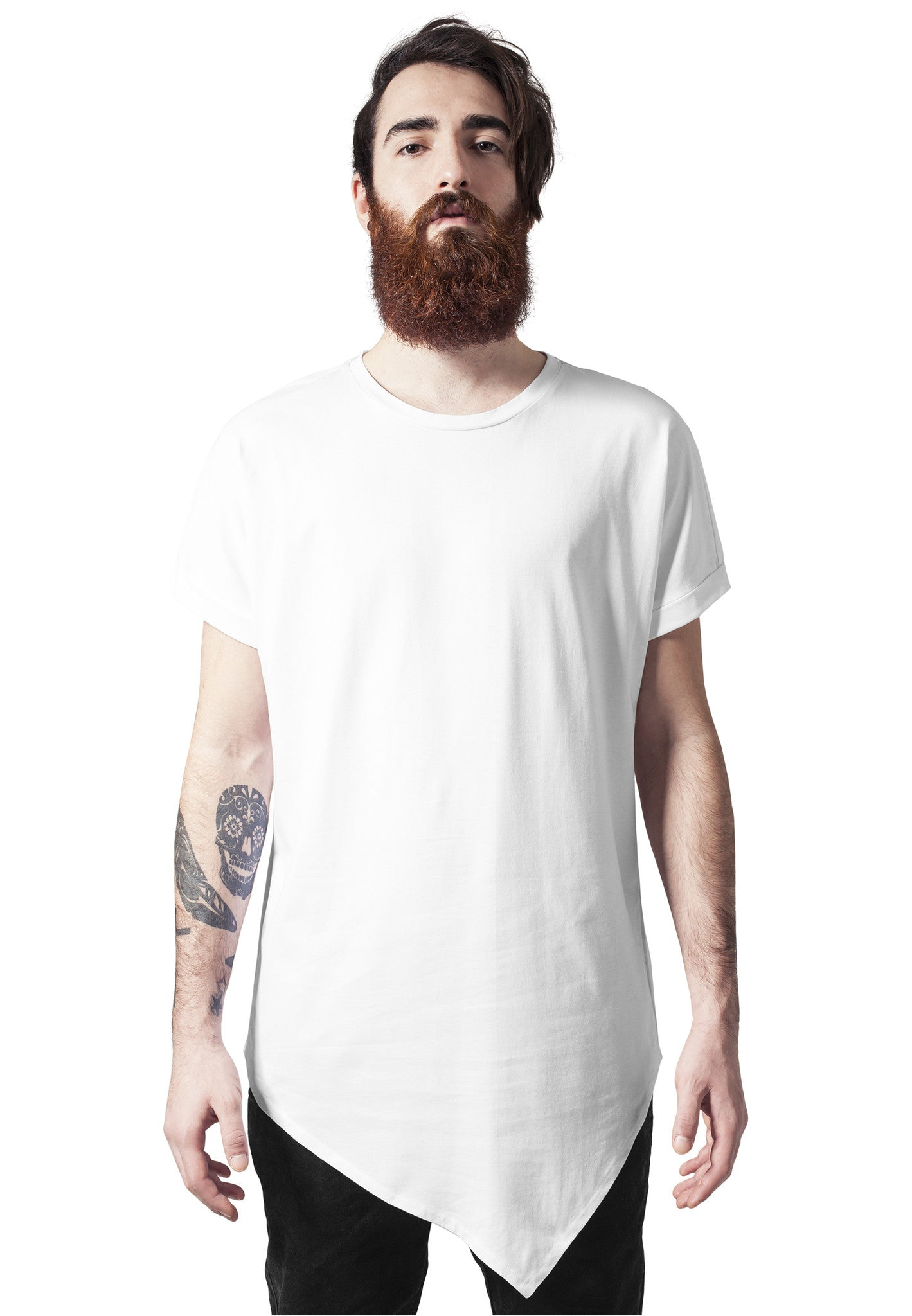 Asymetric Long Tee TB1227 White