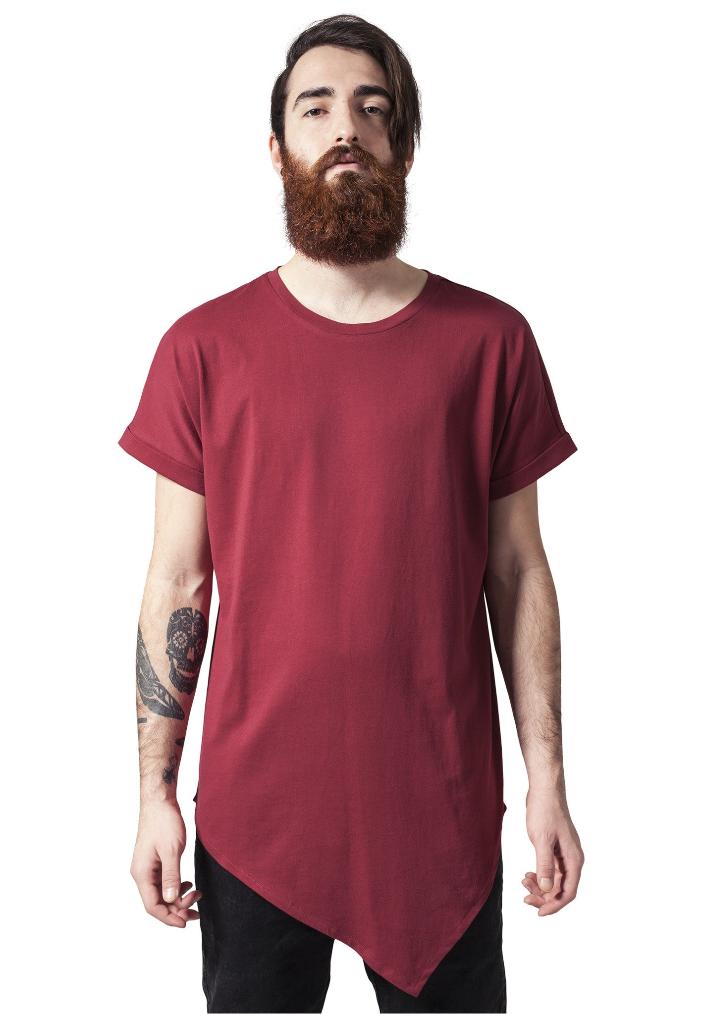 Asymetric Long Tee TB1227 Red