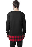 Long Flanell Bottom Open Edge Crewneck TB1250 Black