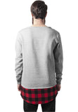 Long Flanell Bottom Open Edge Crewneck TB1250 Grey