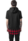 Peached Flanell Bottom Sleeveless Hoody TB1251 Black