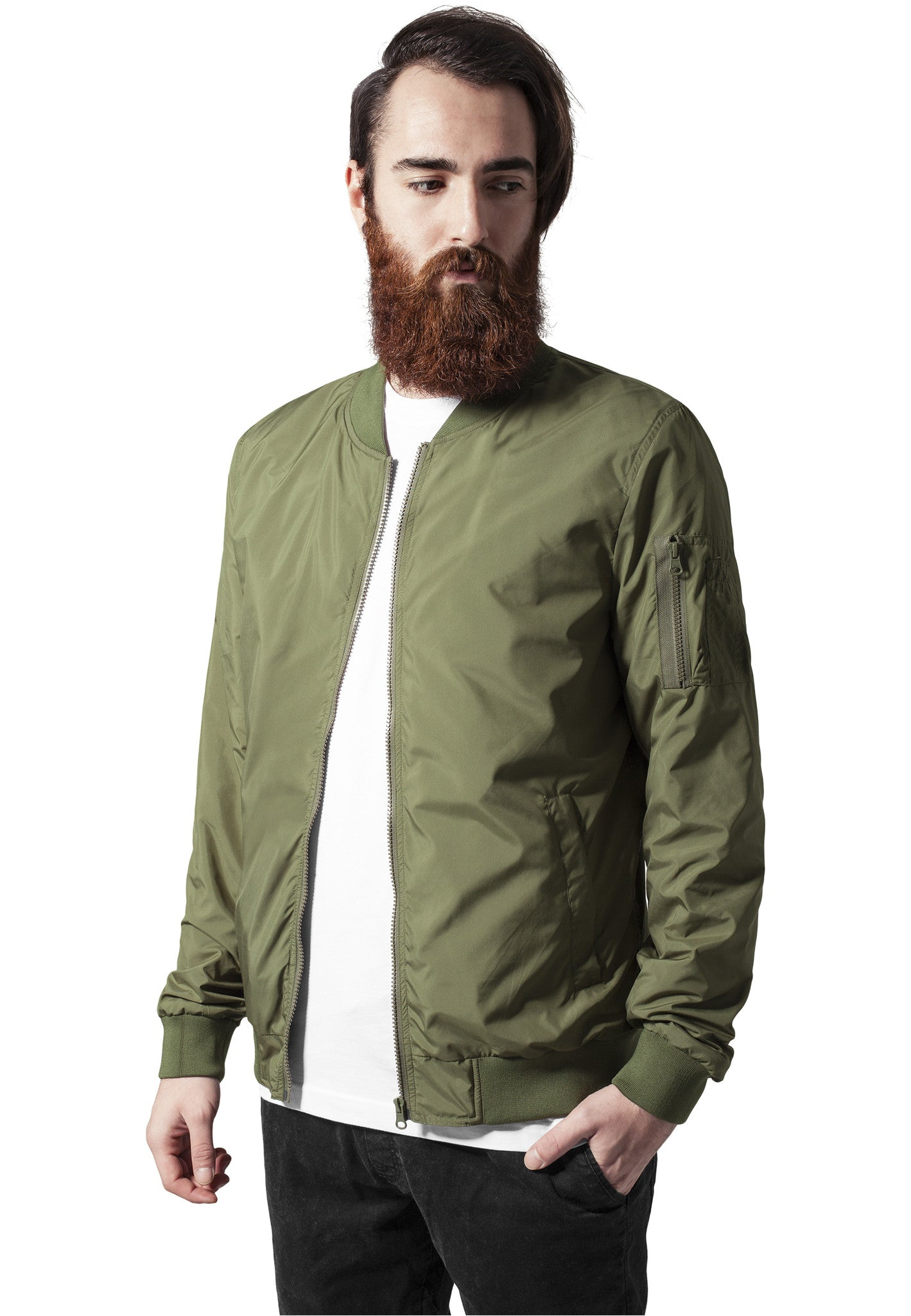 Light Bomber Jacket TB1258 Green