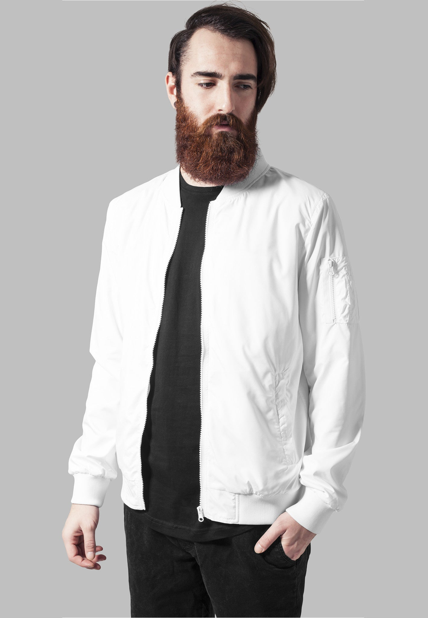 Light Bomber Jacket TB1258 White