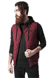 Diamond Quilted Hooded Vest TB1261 Red