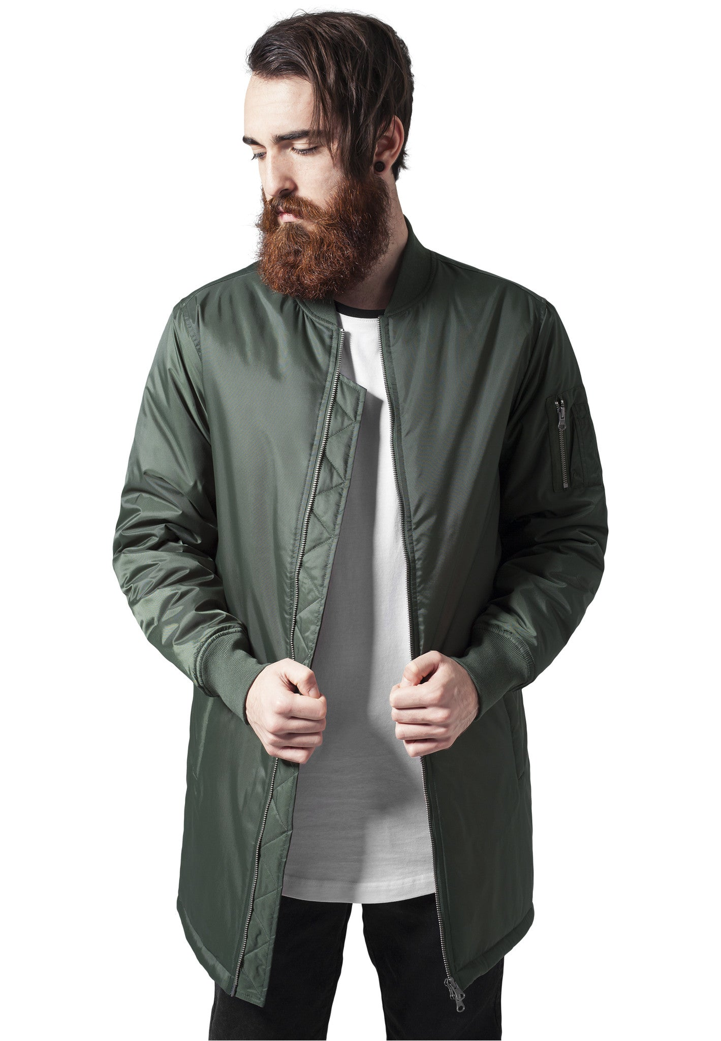 Long Bomber Jacket TB1262 Green