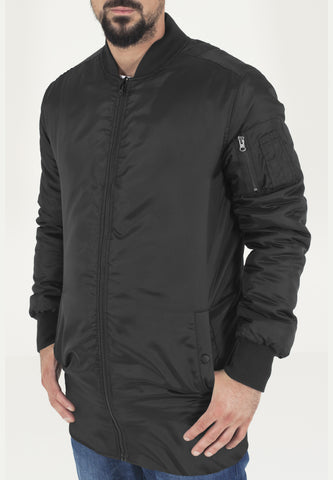 Long Bomber Jacket TB1262 Black