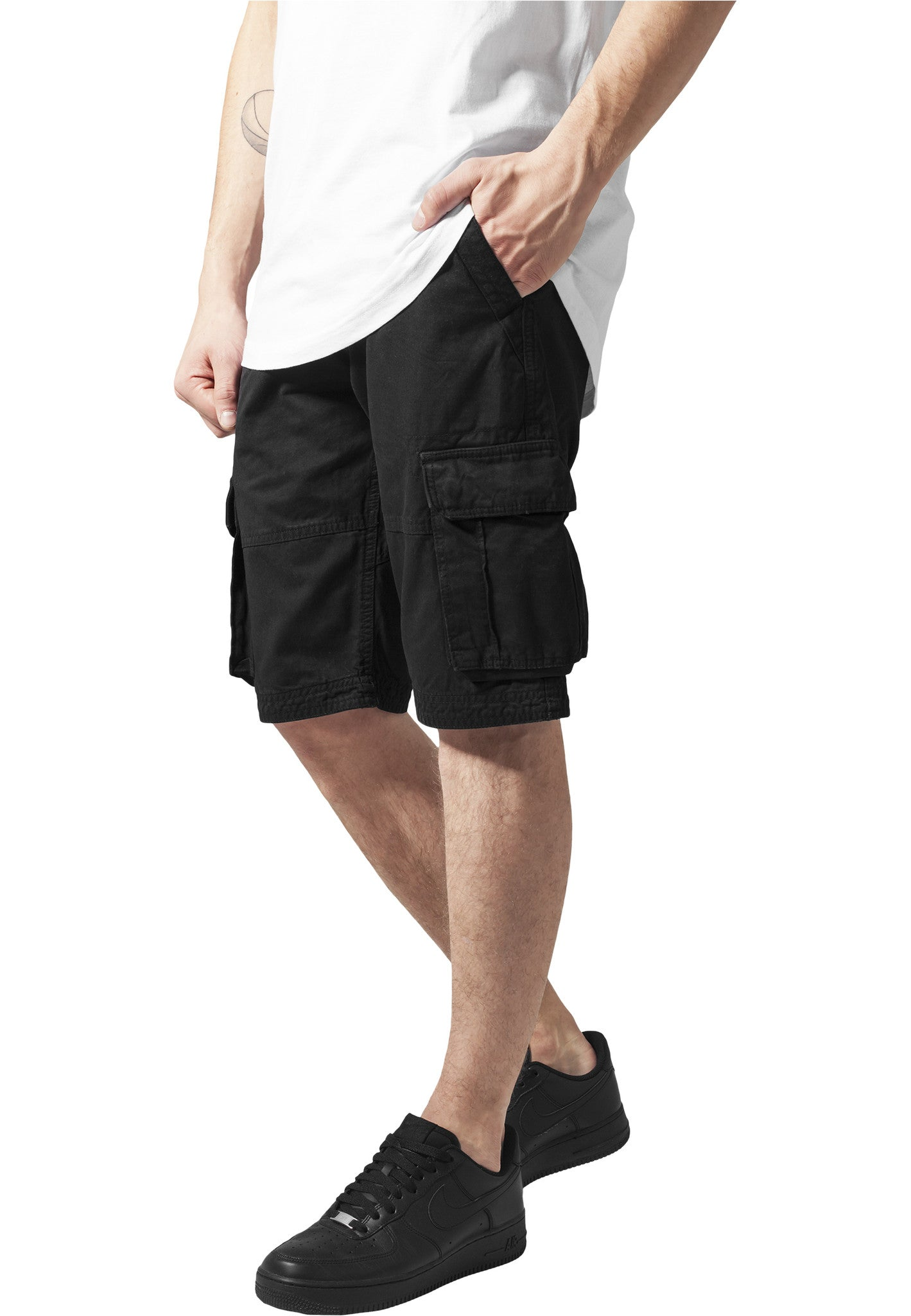 Fitted Cargo Shorts TB1265 Black
