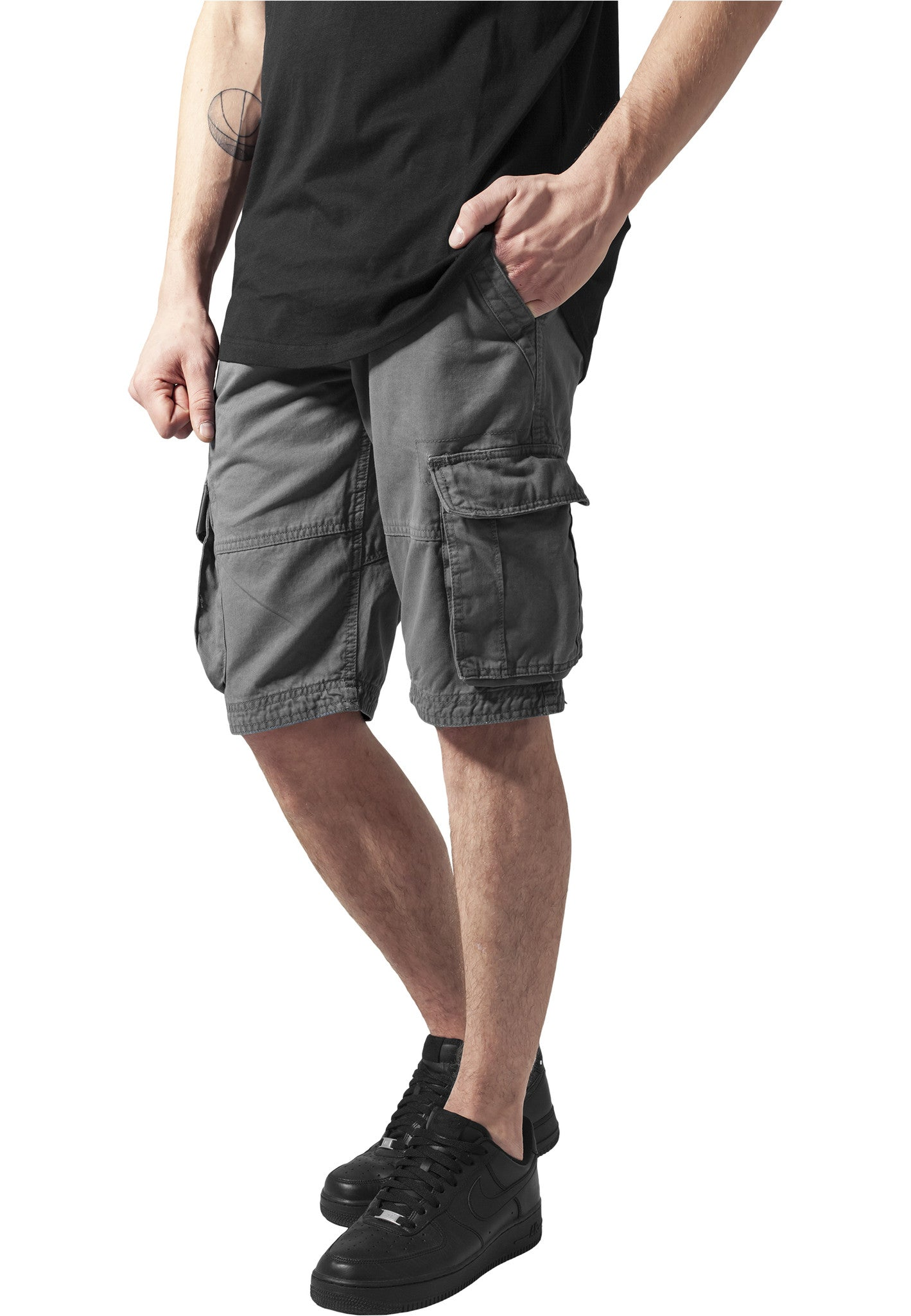 Fitted Cargo Shorts TB1265 Grey