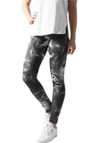 Ladies Smoked Marble Leggings TB1274 Black