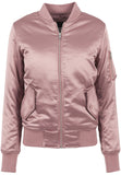 Ladies Satin Bomber Jacket TB1279 Pink