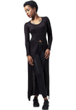 X-long Front Slit TB1298 Black