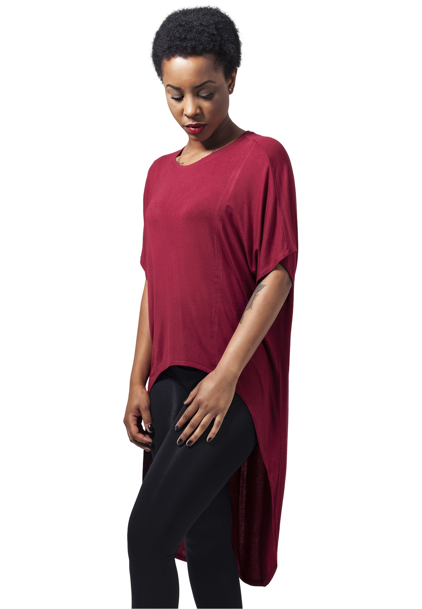 Viscose Oversized HiLo TB1299 Red