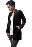 Long Velvet Jacket TB1364 Black