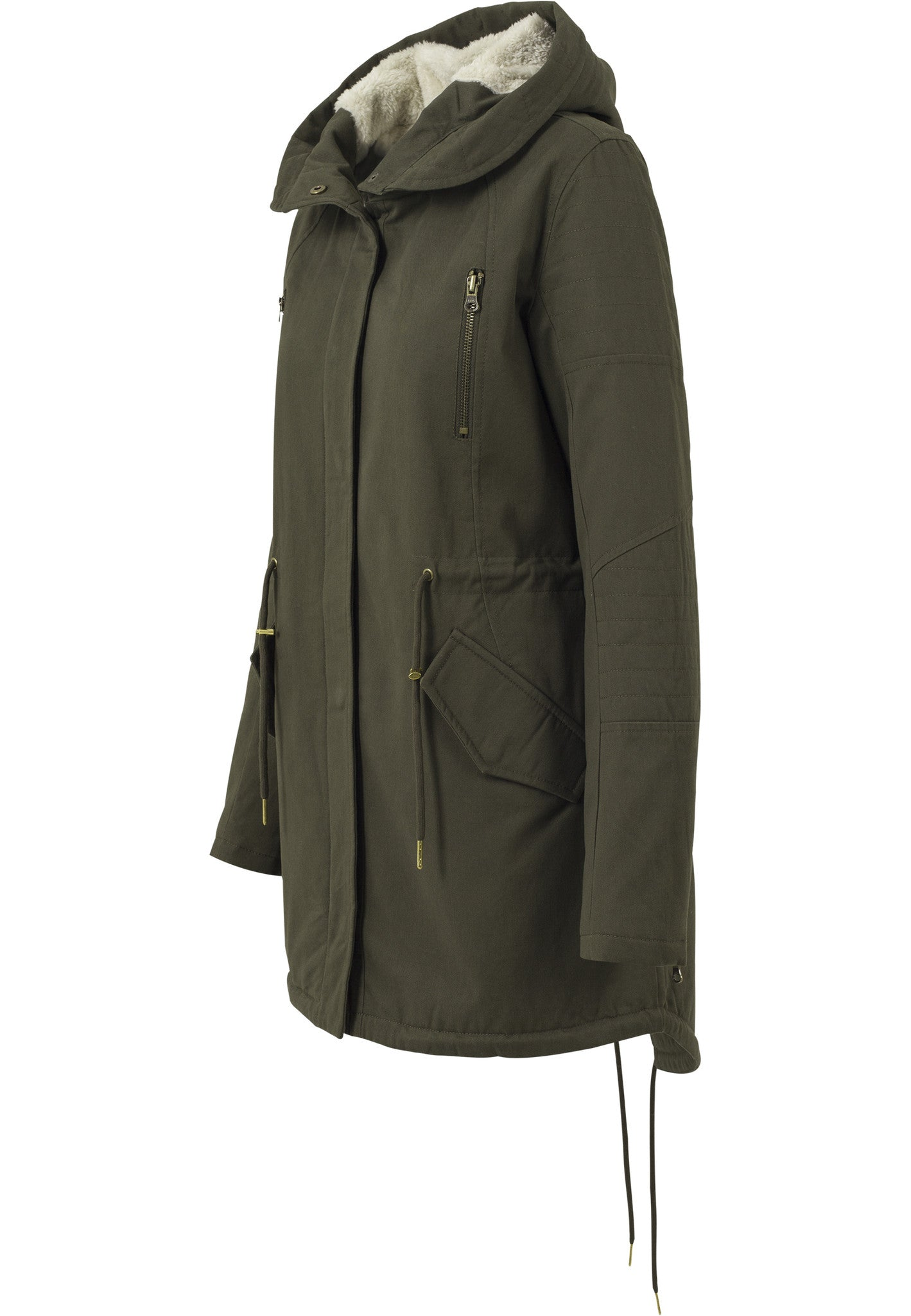 Sherpa Lined Cotton Parka TB1370 Green