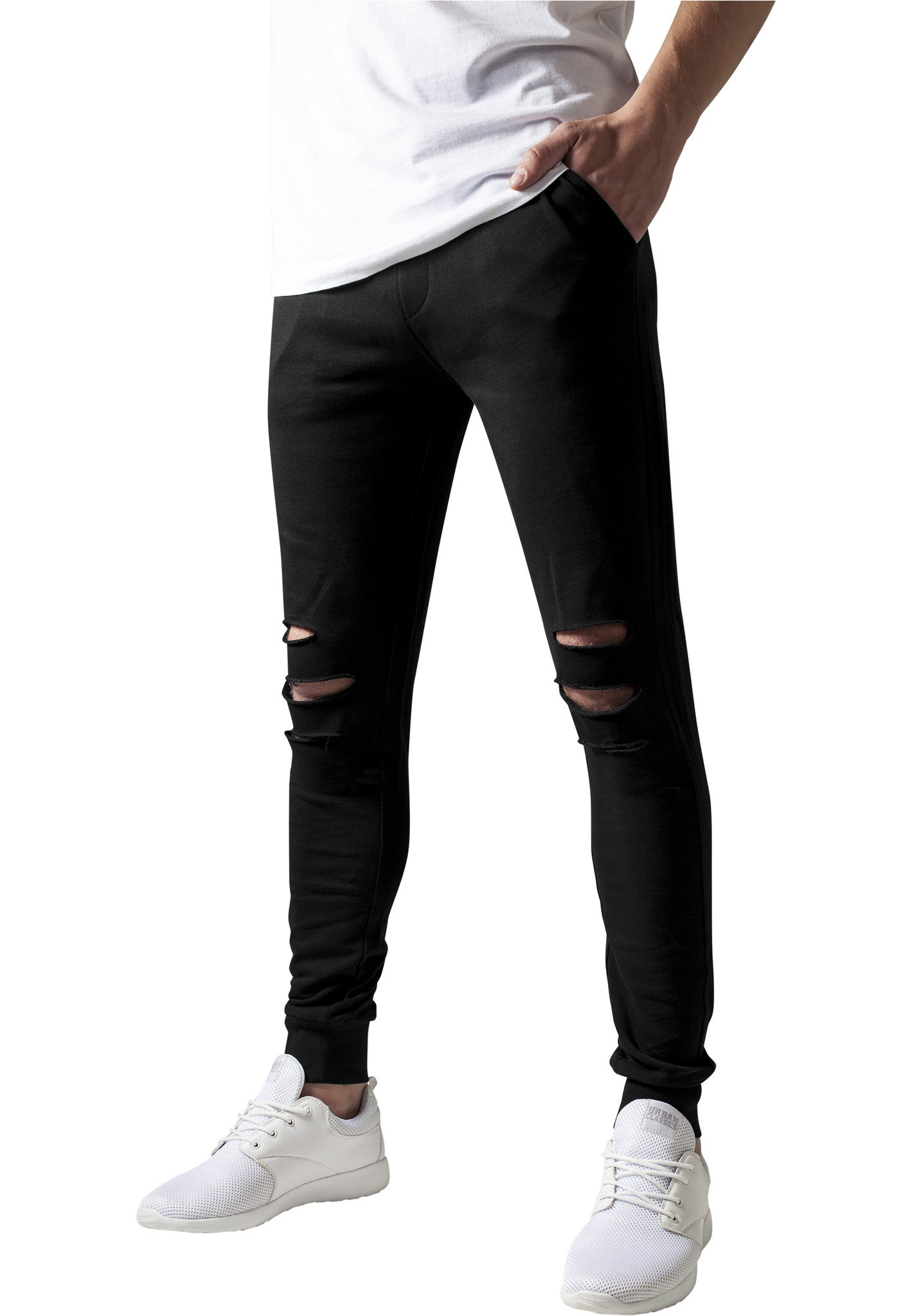 Cutted Terry Pants TB1385 Black