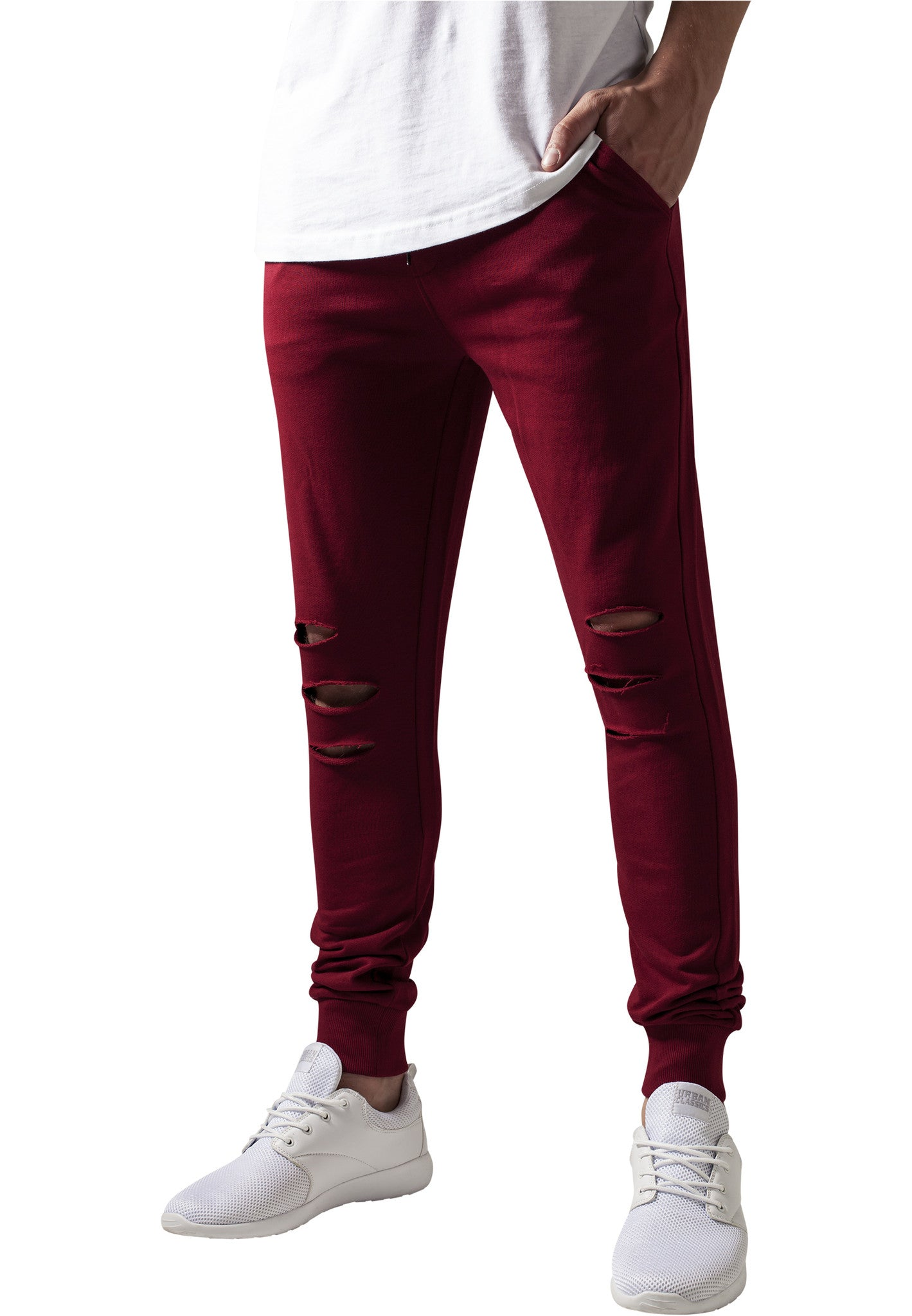 Cutted Terry Pants TB1385 Red