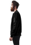 Imitation Suede Bomber Jacket TB1394 Black