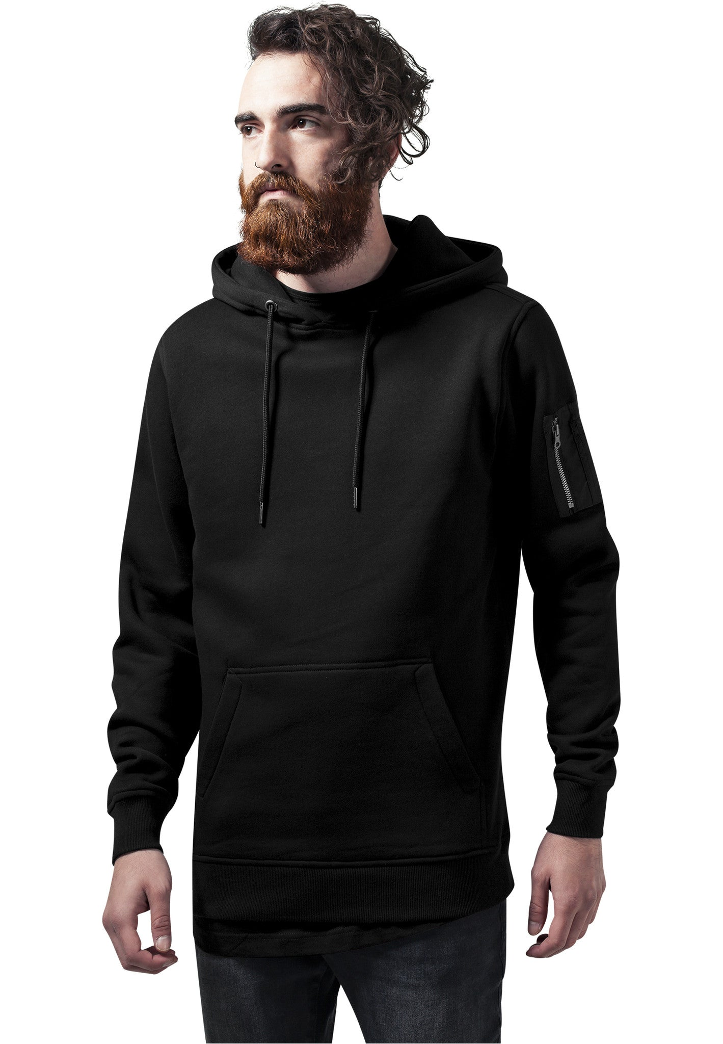 Sweat Bomber Hoody TB1408 Black