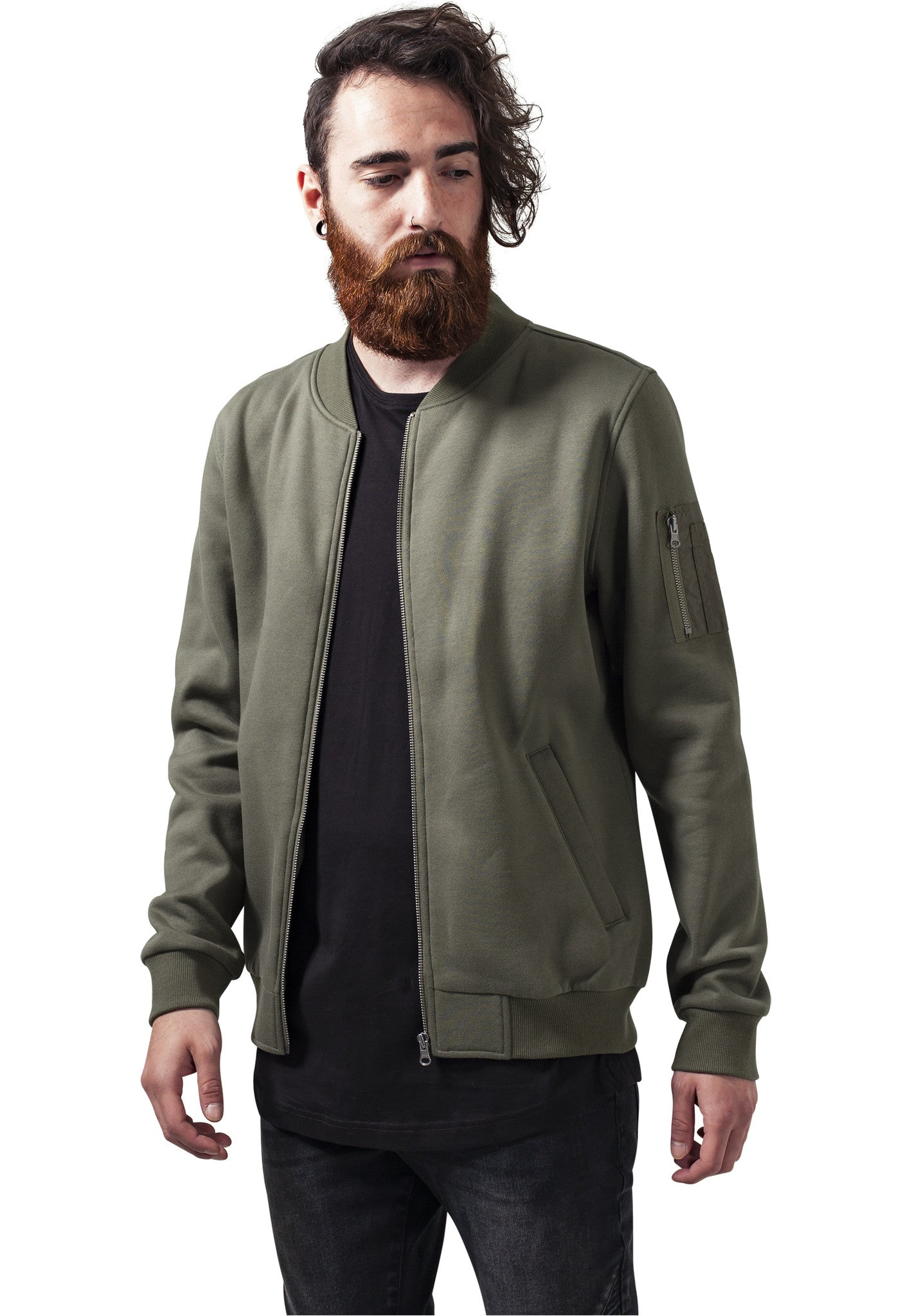 Sweat Bomber Jacket TB1409 Green