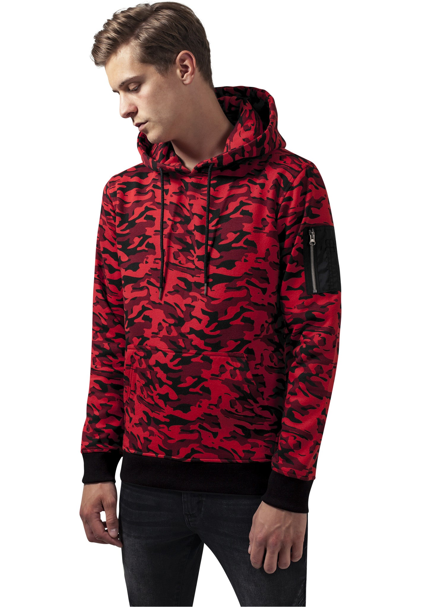 Sweat Camo Bomber Hoody TB1411 Red