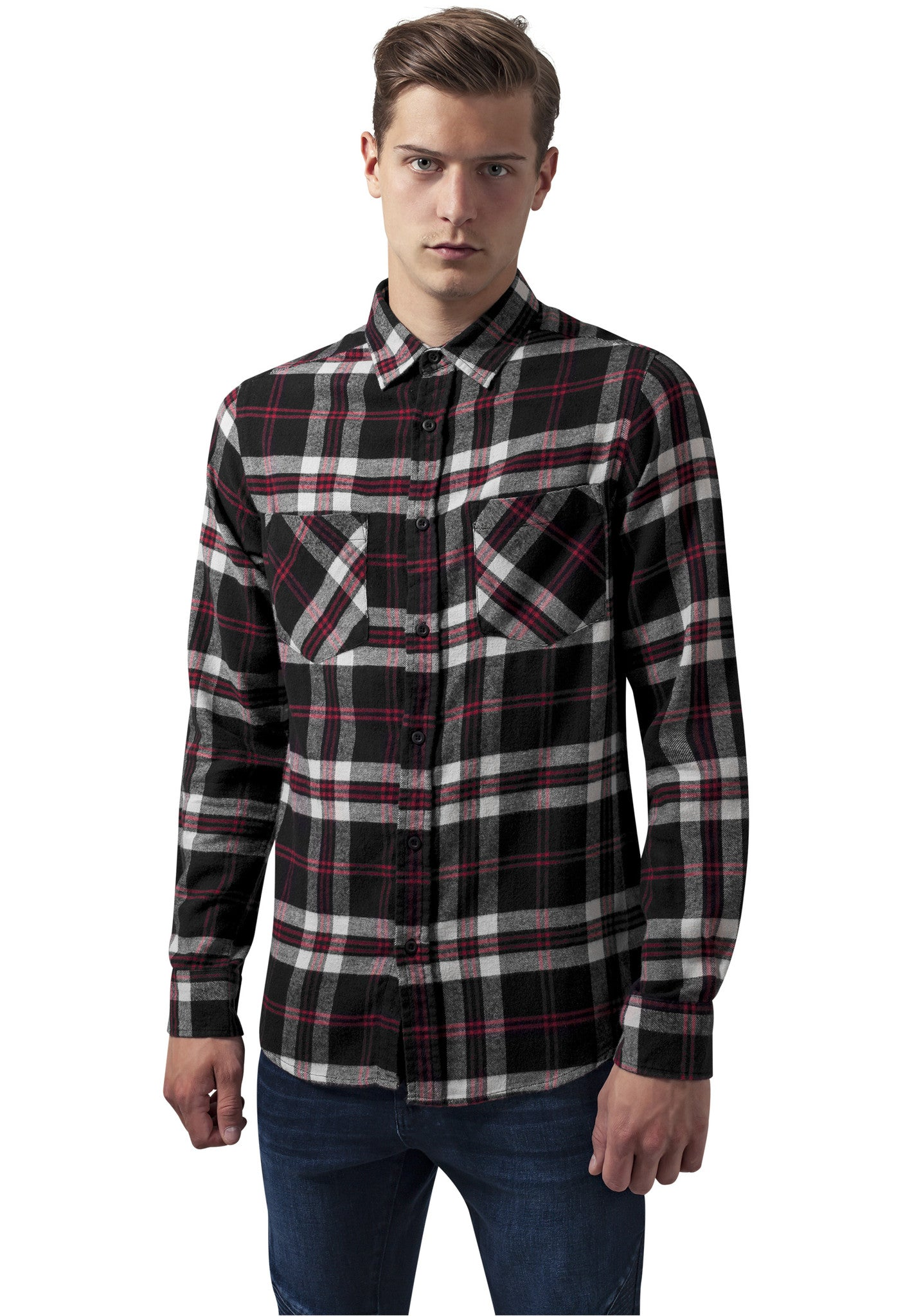 Checked Flanell Shirt 3 TB1422 Black