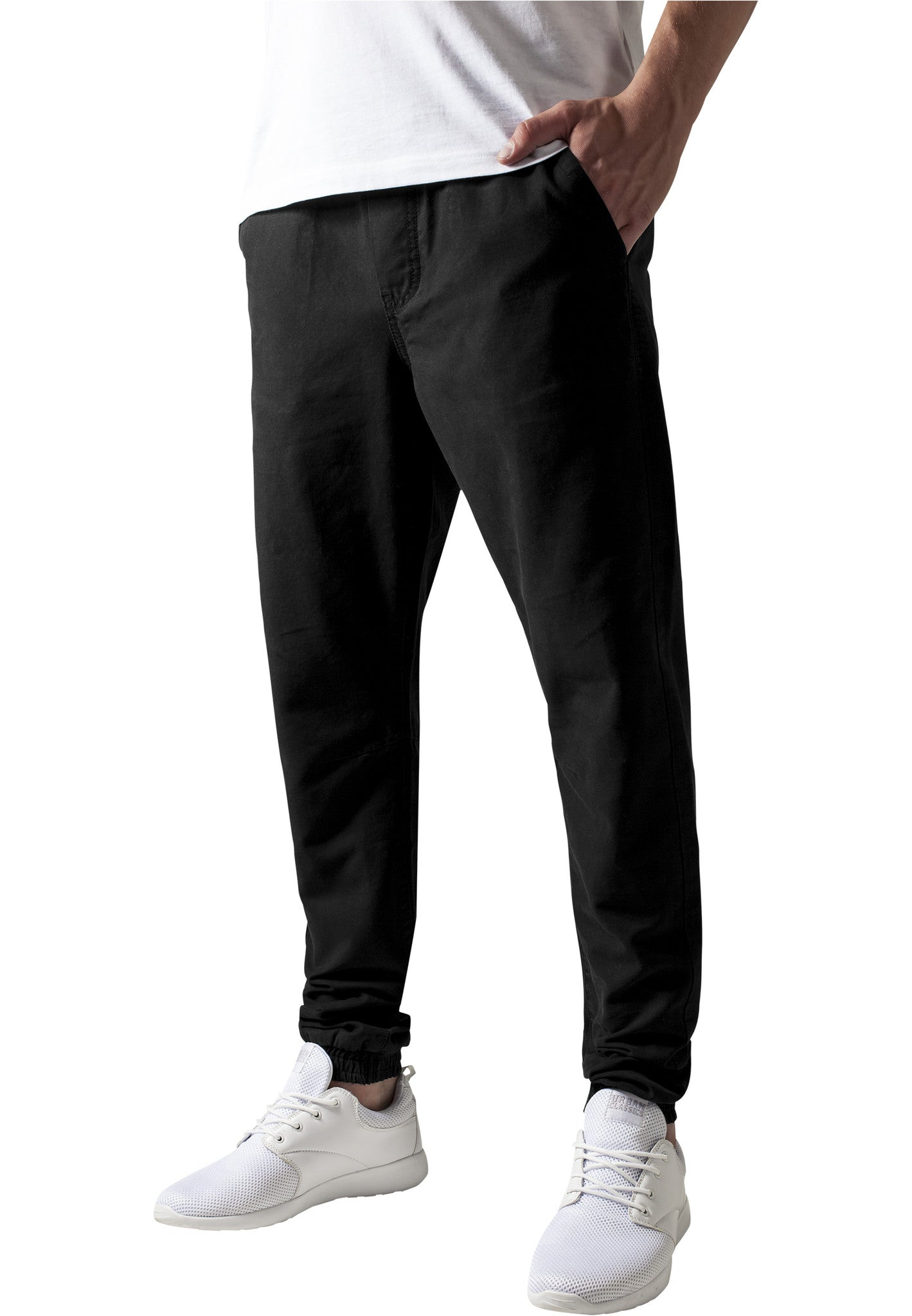 Washed Canvas Jogging Pants TB1434 Black