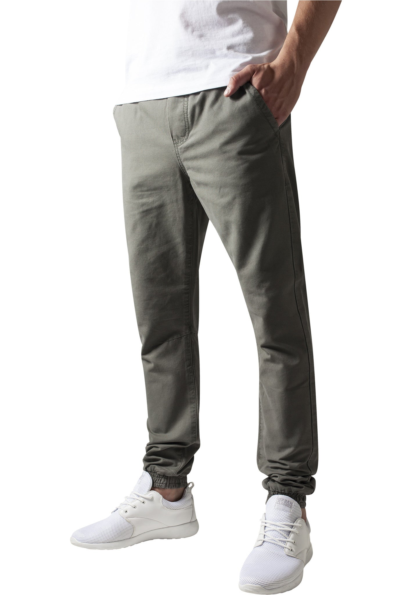 Washed Canvas Jogging Pants TB1434 Green