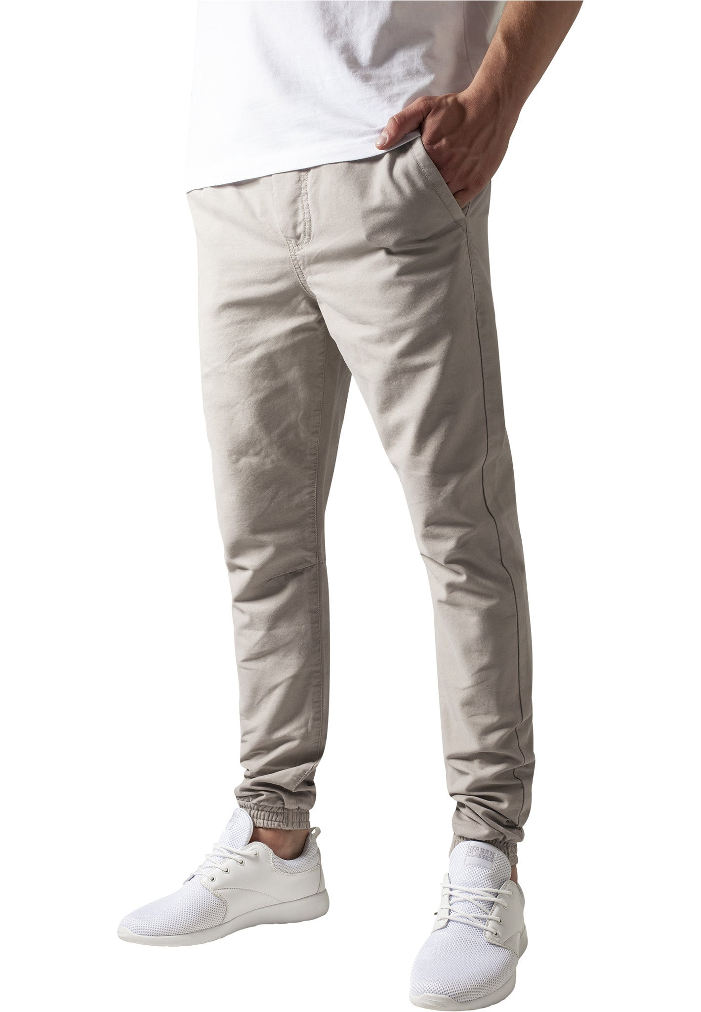 Washed Canvas Jogging Pants TB1434 Beige