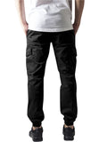 Washed Cargo Twill Jogging Pants TB1435 Black