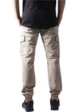 Washed Cargo Twill Jogging Pants TB1435 Beige