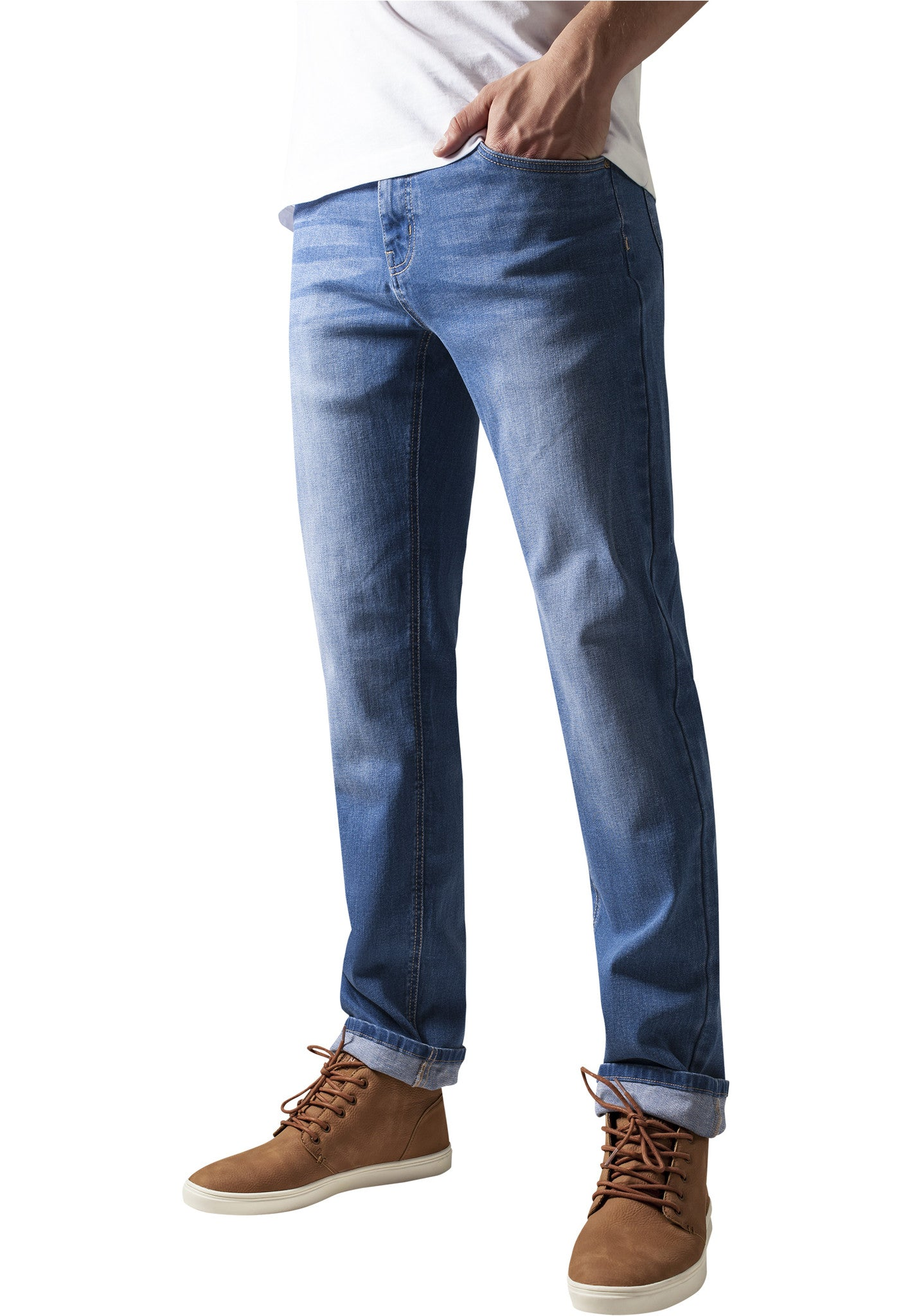 Stretch Denim Pants TB1437 Blue