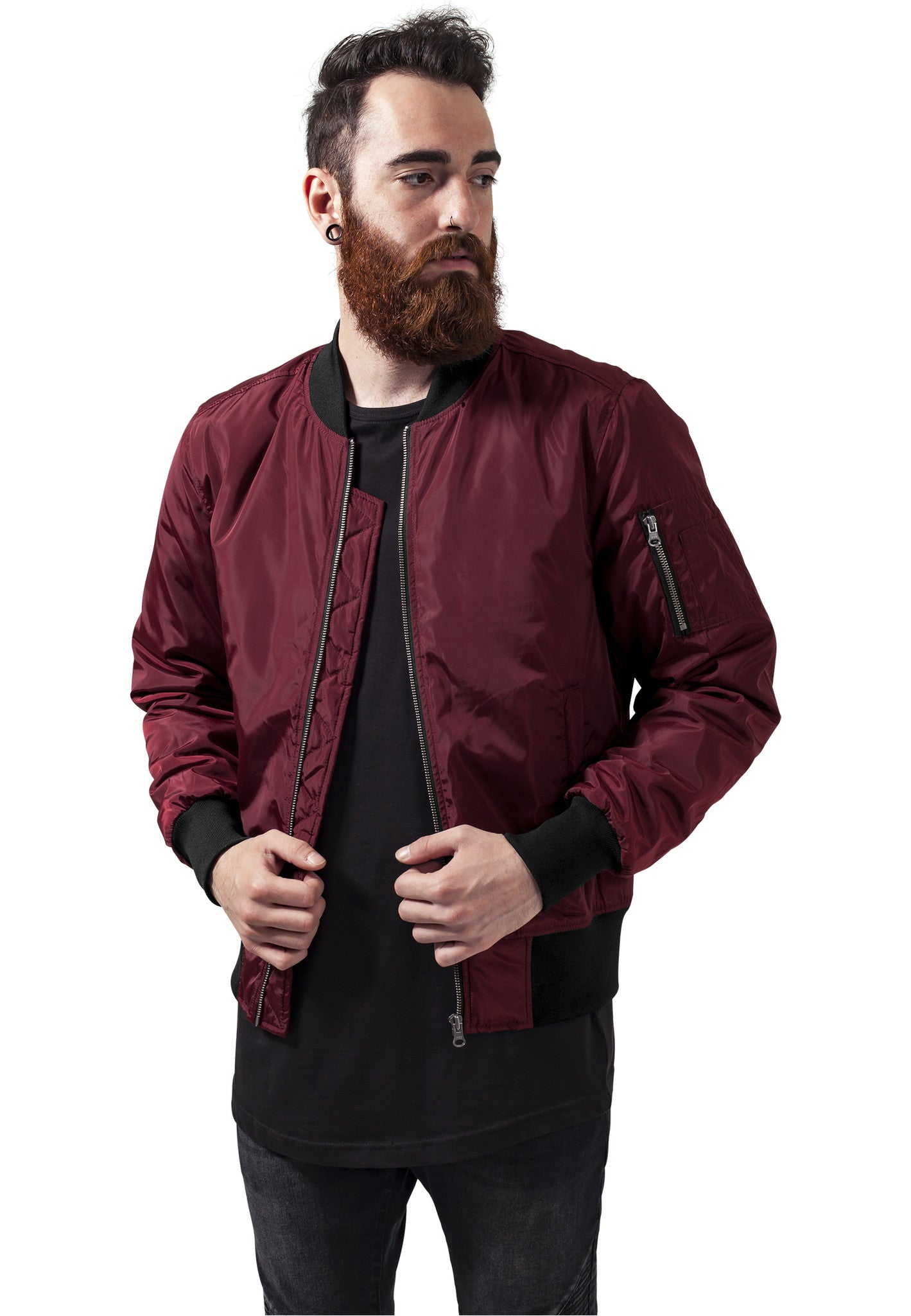 2-Tone Bomber Jacket TB1446 Red