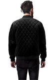 Diamond Quilt Velvet Jacket TB1452 Black