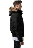 Hooded Heavy Bomber Jacket TB1455 Black