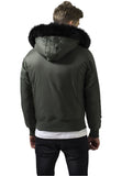 Hooded Basic Bomber Jacket TB1456 Green