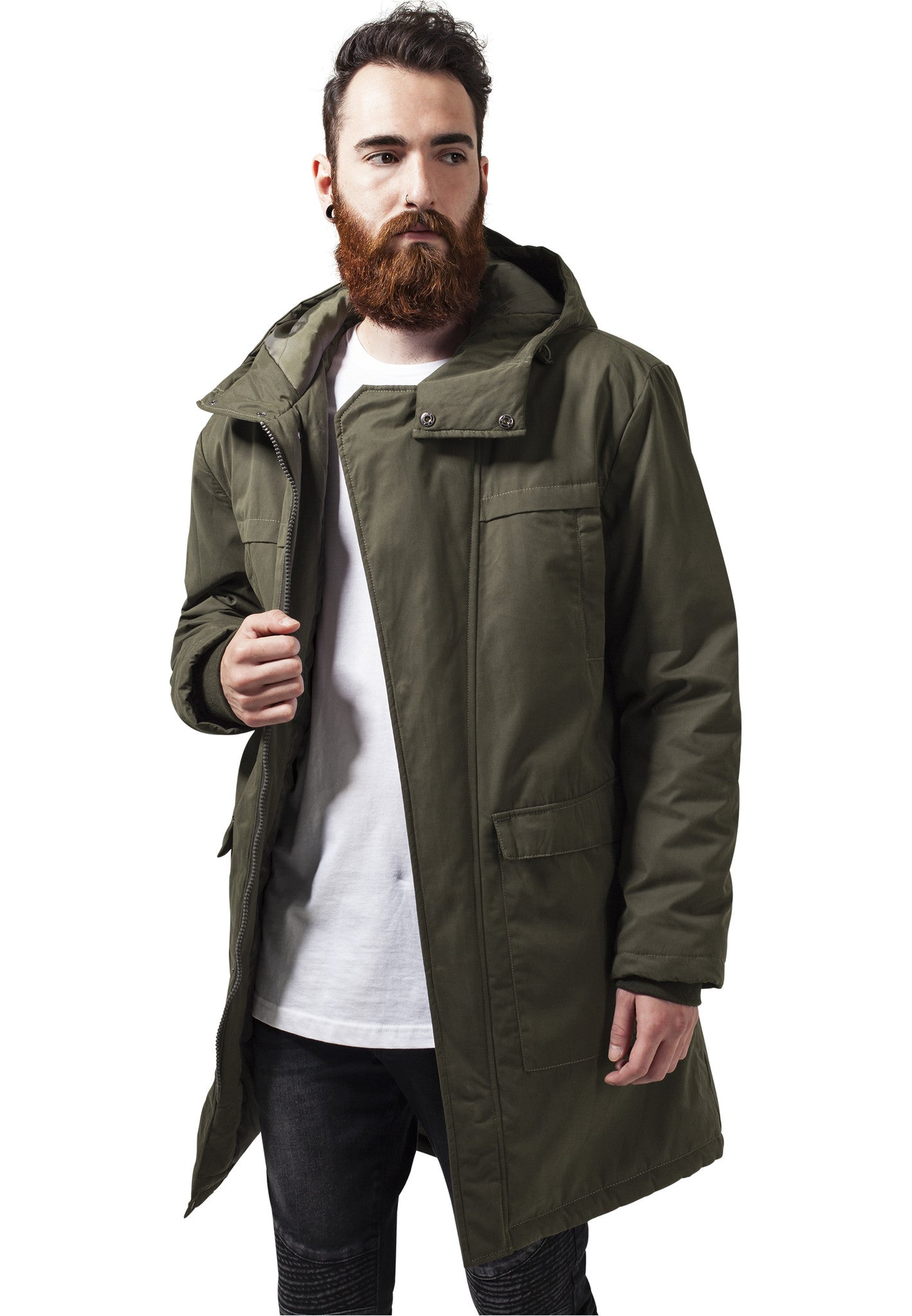 Cotton Peached Canvas Parka TB1461 Green