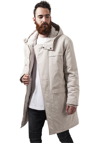Cotton Peached Canvas Parka TB1461 Beige