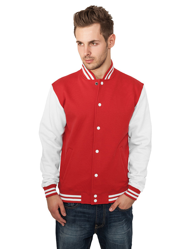 2-Tone College Sweatjacket TB207 Red