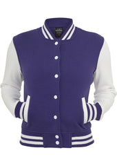 Ladies 2-Tone College Sweatjacket TB218 Purple