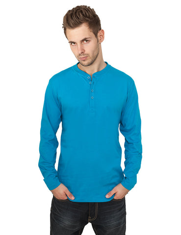 Basic Henley L/S Tee TB276  Turquoise