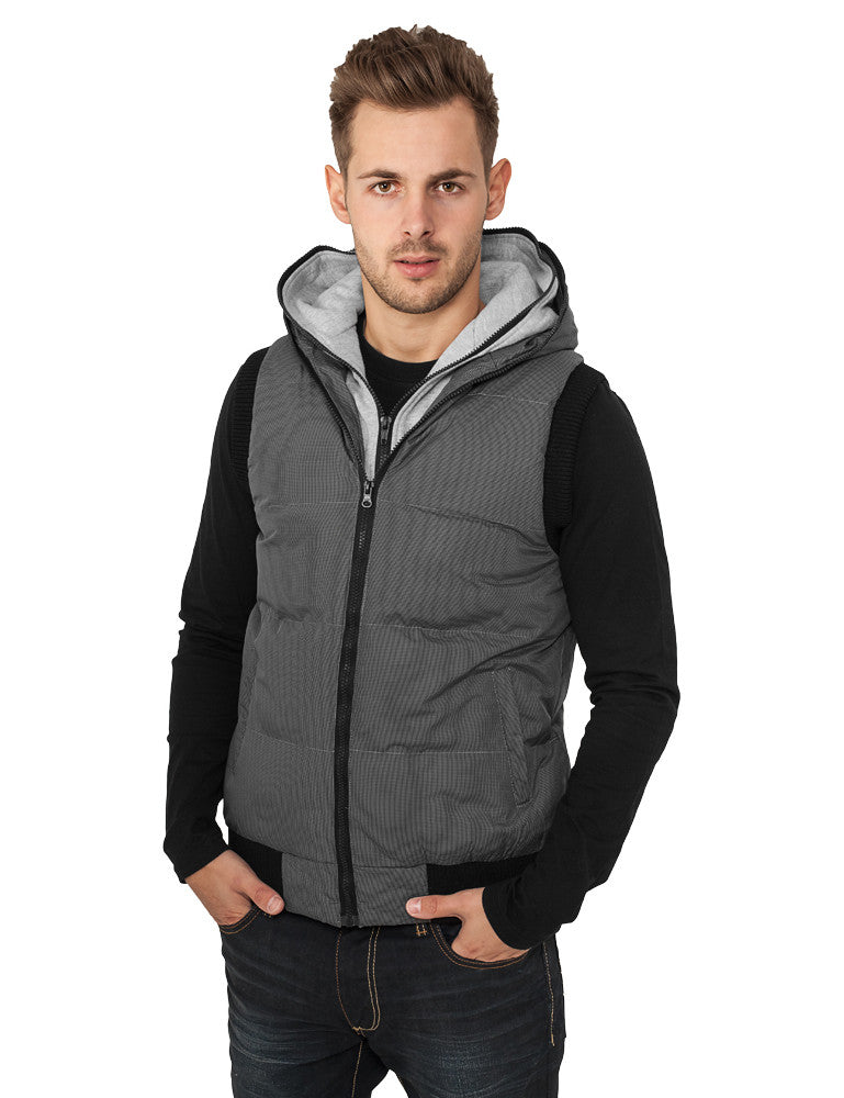 Double Hooded Vest TB334  Black
