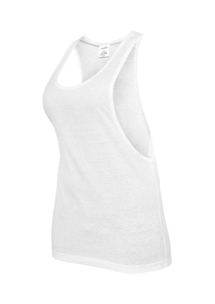 Ladies Loose Tank TB358 White
