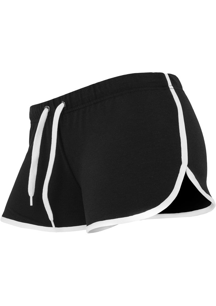Ladies French Terry Hotpants TB363 Black